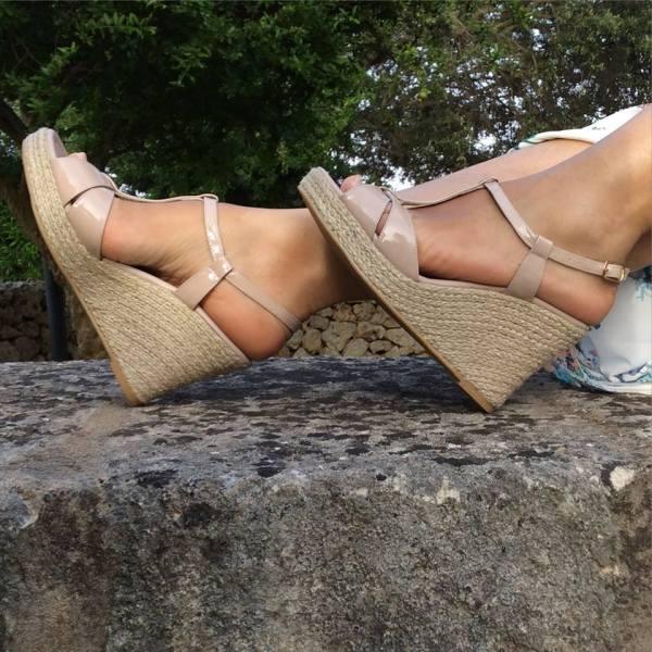 Cecile espadrille wedges nude propia scarpa