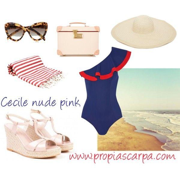 Cecile nude pink espadrilles sandals Propia Scarpa